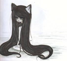 black wolf by xxAiko-chanxx