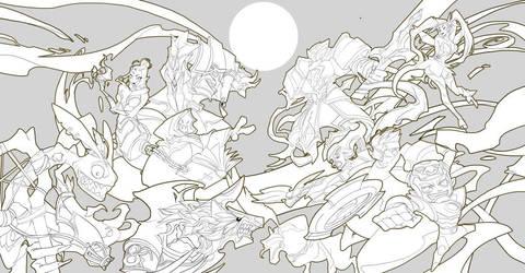Endgods's war illustration by thuyngan