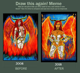 Draw it Again: Fire Angel and Ember Erotomania by The-Infamous-MrGates