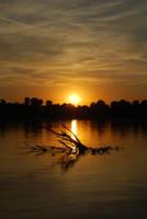Sunset on Danube by zubuki
