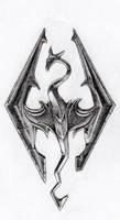 Skyrim logo by zubuki