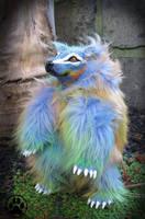 Lumen the technicolour dream bear poseable doll! by CreaturesofNat