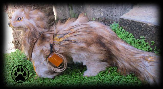 SOLDManuka the honey thief ferret poseable artdoll by CreaturesofNat