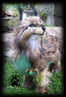 SOLD Frond the fern fox poseable art doll! by CreaturesofNat