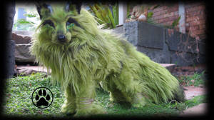 SOLD Marsh the swamp wolf poseable art doll! by CreaturesofNat