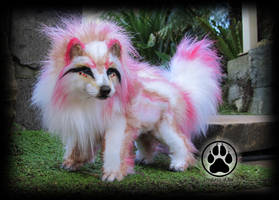 SOLD Wolf commission poseable artdoll OOAK! by CreaturesofNat