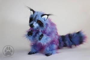 SOLD Bornite the Peacock Ore Raccoon art doll! by CreaturesofNat