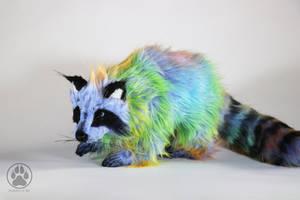 Sakkaku the Illusion Raccoon poseable art doll! by CreaturesofNat