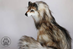 SOLD Wolf commission poseable art doll ooak by CreaturesofNat