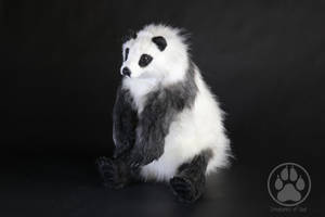 SOLD Panda Commission Artdoll OOAK by CreaturesofNat
