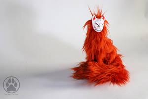 Koyo the Autumn Kitsune poseable art doll OOAK by CreaturesofNat