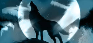 Wolf Banner 03 by suishouyuki