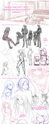 Sketchdump 2011 - 2015 by suishouyuki