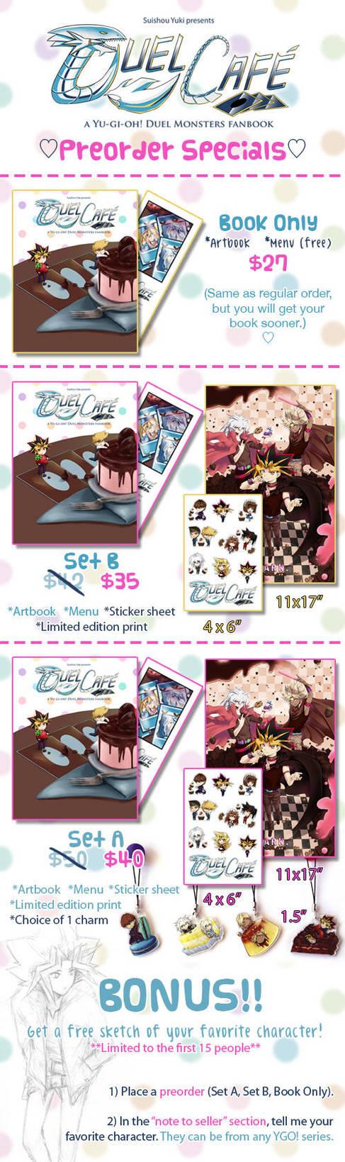 Duel Cafe Preorder Specials by suishouyuki