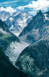 God's Green Mountains by suishouyuki