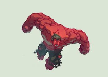 Red Hulk by AlexRedfish