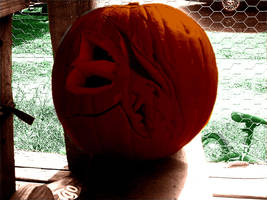 Timaeus' head on a pumpkin by KenshinKyo