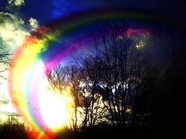 rainbow sunset by KenshinKyo