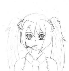 Miku sketch by Komi-Tsuku