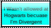 I wasn't allowed at Hogwarts because I'm Divergent by Dex-Apenger