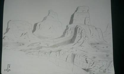 Rocky mountains (training) by Eskov