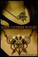 Amber Clockwork Necklace by JynxsBox