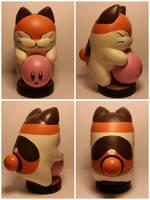 Nago and Kirby custom amiibo by Aubrey891