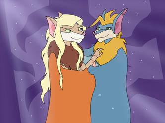 Shade and Marina by silverwingbat