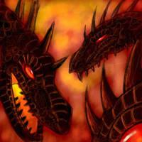 Magma Dragons by Gwydd