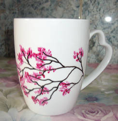 Pink tree Cup by marinaawin