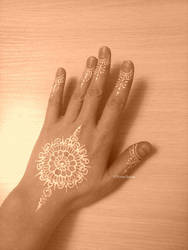 White Mandala Mehendi by Verachana