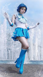 Sailor Mercury Splash! by Deadsushii
