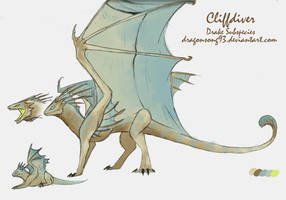 Cliffdiver Species Sheet by Dragonsong93