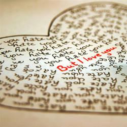 but i love you. by StripedLadybird