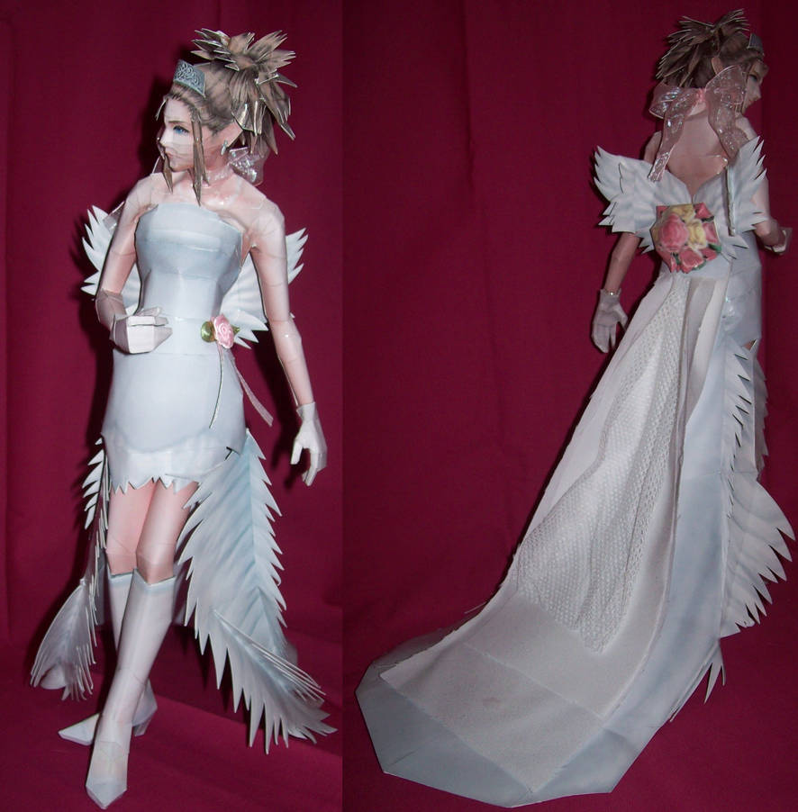 Papercraft Yuna Wedding Dress By Xanokah On Deviantart