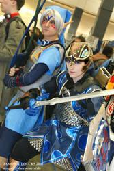 Zora Armor and Fierce Deity by GingerAnneLondon