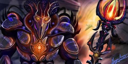 Alien Cyborg Concept Art by GingerAnneLondon