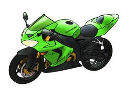 Kawasaki Ninja ZX-10 by Vierna-Drottingu