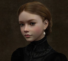 Victorian Girl with a Pearl Earring (without PW) by SirTancrede