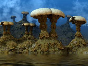 Fungal Fjord by AureliusCat