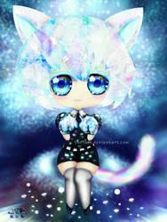 Diamond cat chibi by SNO7ART
