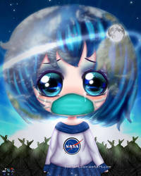 Earth Chan by SNO7ART