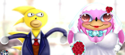Super Sanic and Uganda Super Knuckle Wedding by SNO7ART