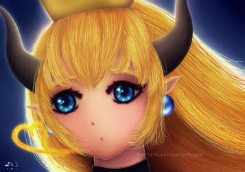 Bowsette by SNO7ART