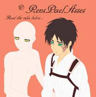 4: Sitting With Sleepy Eren by RensPixelAsses
