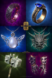 Mage Wars - Card art - Equipment by Deligaris