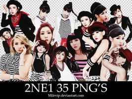 2NE1 35 PNG'S By:Milevip by Milevip