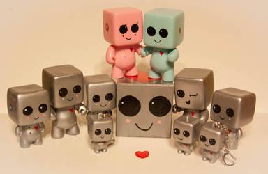 HeartBot Family at Etsy.com by maskedrabbitcrafts
