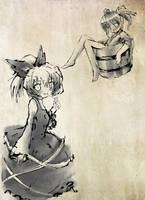 Touhou PC - Kurodane+Kisume B by yo-chaosangel