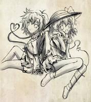 Touhou PC - Satori and Koishi by yo-chaosangel